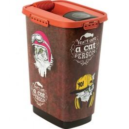 Rotho Mypet Pet Food Container VINTAGE chat 25 L - La Compagnie Des Animaux