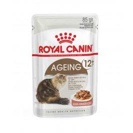 Royal Canin Ageing +12 en sauce Chats de plus de 12 ans Sachet 12 x 85 grs  - La Compagnie Des Animaux