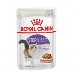 Royal Canin Sterilised en sauce Chat âgé de 1 à 7 ans Sachet 12 x 85 grs - La Compagnie Des Animaux