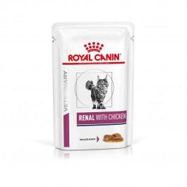 Royal Canin Veterinary Diet Cat Renal Poulet Sachet 12 x 85 grs - La Compagnie Des Animaux