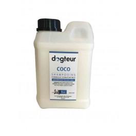 Offre Dogteur: 1 Shampooing PRO Dogteur Huile de Coco 1 L acheté = 1 gant de toilettage offert - La Compagnie Des Animaux