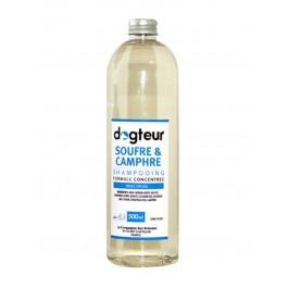 Offre Dogteur: 1 Shampooing PRO Dogteur Soufre et Camphre 500 ml acheté = 1 gant de toilettage offert - La Compagnie Des Animaux
