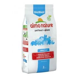 Almo Nature Chat Sterilised Boeuf et riz 2 kg - La Compagnie Des Animaux