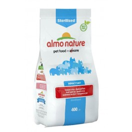 Almo Nature Chat Sterilised Boeuf et riz 400 grs - La Compagnie Des Animaux