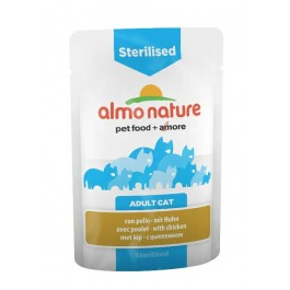 Almo nature Chat Sterilised Poulet 30 x 70 grs - La Compagnie Des Animaux