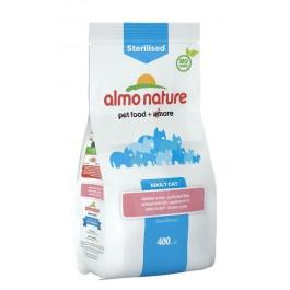 Almo Nature Chat Sterilised Saumon et riz 400 grs - La Compagnie Des Animaux