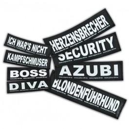 2 Stickers Velcro Julius K9 taille L BULLDOZER - La Compagnie Des Animaux
