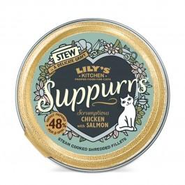 Lily's Kitchen Suppurrs au Poulet et Saumon Chat 9 x 85 g - La Compagnie Des Animaux