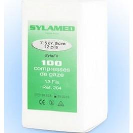 Compresses de gaze hydrophile non stériles 7.5 x 7.5 cm par 100 - La Compagnie Des Animaux