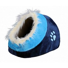 Trixie Abri pour chat Minou bleu foncé/bleu 35 x 26 x 41 - La Compagnie Des Animaux