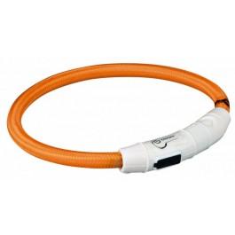 Trixie Collier Lumineux Safer Life USB Flash orange pour chien L-XL - La Compagnie Des Animaux