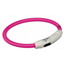 Trixie Collier Lumineux Safer Life USB Flash rose pour chien L-XL - La Compagnie Des Animaux