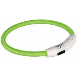 Trixie Collier Lumineux Safer Life USB Flash vert pour chien M-L - La Compagnie Des Animaux
