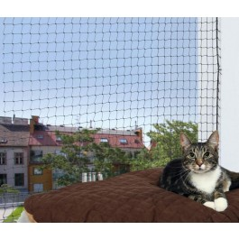Trixie Filet de protection noir fenêtre pour chat 2 x 1,5 m - La Compagnie Des Animaux