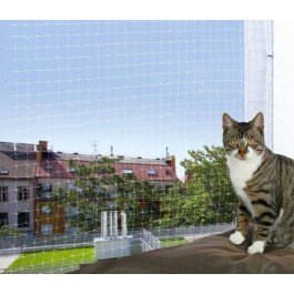 Trixie Filet de protection transparent fenêtre Chat 2 x 1,5 m - La Compagnie Des Animaux