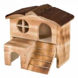 Trixie Natural Living Maison Kasja en bois flammé Souris et Hamsters - La Compagnie Des Animaux