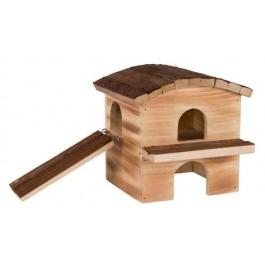 Trixie Natural Living Maison Melvin en bois flammé Souris et Hamsters - La Compagnie Des Animaux