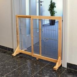 Trixie barrière pour chiens en bouleau 61 - 103 x 75 x 40 cm - La Compagnie Des Animaux
