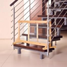 Trixie barrière pour chiens en bouleau 63 - 108 x 50 x 31 cm - La Compagnie Des Animaux