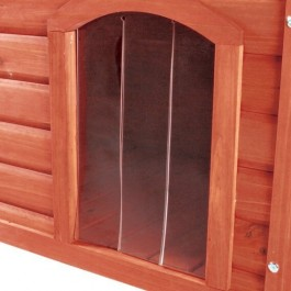 Trixie porte plastique 32 x 45 cm pour niche Natura à toit plat 104 x 72 x 68 cm - La Compagnie Des Animaux