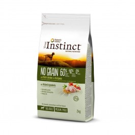 True Instinct No Grain Medium Maxi Adult Poulet 2 kg - La Compagnie Des Animaux