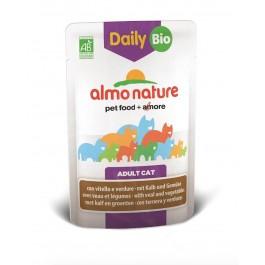 Almo Nature Chat Daily Bio Veau et légumes 30 x 70 grs - La Compagnie Des Animaux
