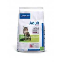 Virbac Veterinary HPM Adult Neutered & Entire Cat Saumon 3 kg - La Compagnie Des Animaux