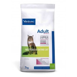 Virbac Veterinary HPM Adult Neutered & Entire Cat Saumon 7 kg - La Compagnie Des Animaux