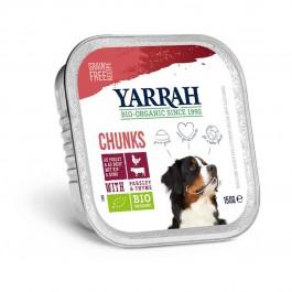 Yarrah Bio Bouchées de boeuf au persil et au thym pour chien 12 x 150 grs - La Compagnie Des Animaux