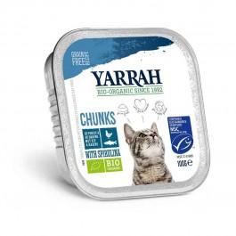 Yarrah Bio Bouchées de poisson à la spiruline pour chat 16 x 100 grs - La Compagnie Des Animaux