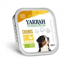 Yarrah Bio Bouchées de poulet à l'aloe vera pour chien 12 x 150 grs - La Compagnie Des Animaux