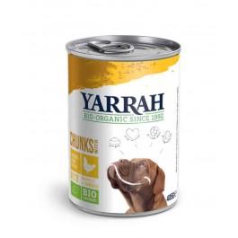 Yarrah Bio Bouchées de poulet en sauce aux orties et à la tomate pour chien 12 x 405 grs - La Compagnie Des Animaux