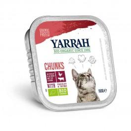 Yarrah Bio Bouchées de poulet et boeuf en sauce au persil et au thym pour chat 16 x 100 grs - La Compagnie Des Animaux