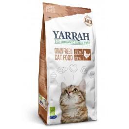 Yarrah Bio croquettes au poulet et poisson sans céréales (Grain Free) pour chat 800 grs - La Compagnie Des Animaux