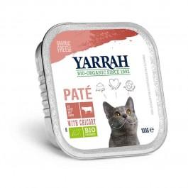 Yarrah Bio Pâté de boeuf à la chicorée pour chat 16 x 100 grs - La Compagnie Des Animaux