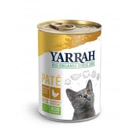 Yarrah Bio Pâté de poulet à la spiruline et aux algues marines pour chat 12 x 400 grs - La Compagnie Des Animaux