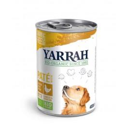 Yarrah Bio Pâté de poulet en sauce aux d'algues marines et spiruline pour chien 12 x 400 grs - La Compagnie Des Animaux
