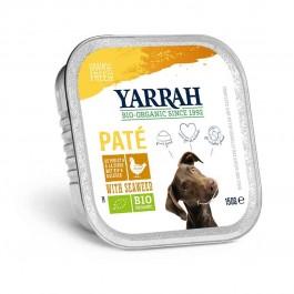 Yarrah Bio Pâté de poulet et aux algues marines pour chien 12 x 150 grs - La Compagnie Des Animaux
