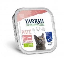 Yarrah Bio Pâté de saumon aux algues marine pour chat 16 x 100 grs - La Compagnie Des Animaux