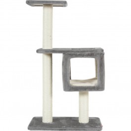 Zolux arbre à chat Cube 2 gris 57 x 35 x 95 cm - La Compagnie Des Animaux