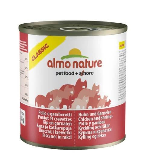 Almo Nature Chat Classic Poulet et Crevettes 12 x 280 grs