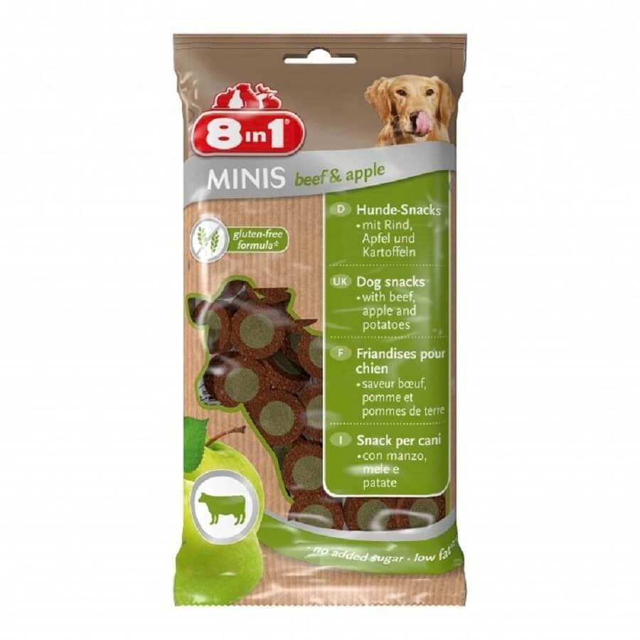 8in1 Mini Friandises Boeuf et Pommes pour chien 100 g