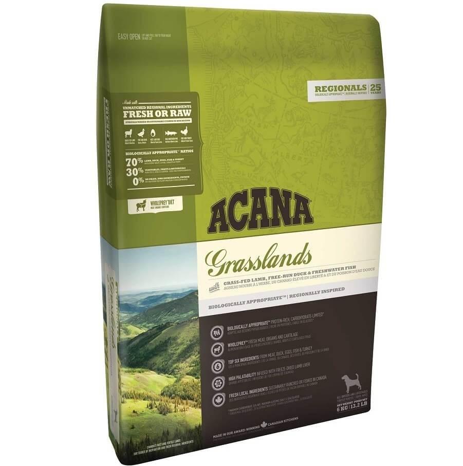 Acana Regional Grasslands pour Chien 11.4 kg (nouvelle formule) - La Compagnie des Animaux