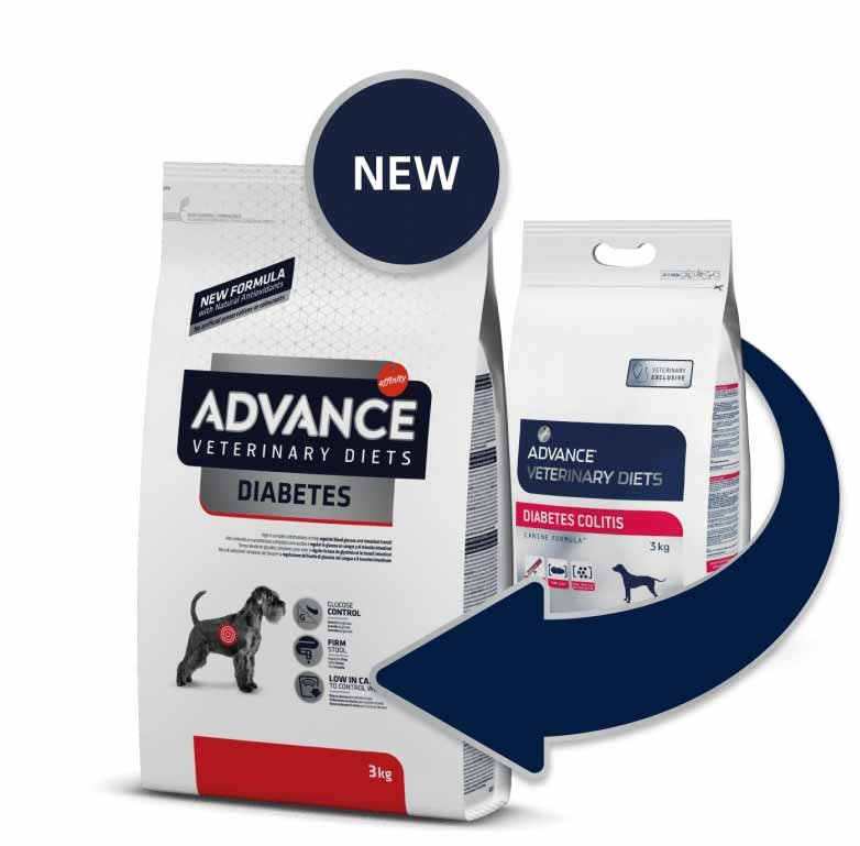Advance Veterinary Diet Chien Diabetes Colitis 3 kg- La Compagnie des Animaux