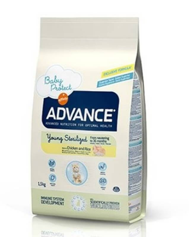 Advance Young Sterilized au poulet Chat 1,5 kg- La Compagnie des Animaux