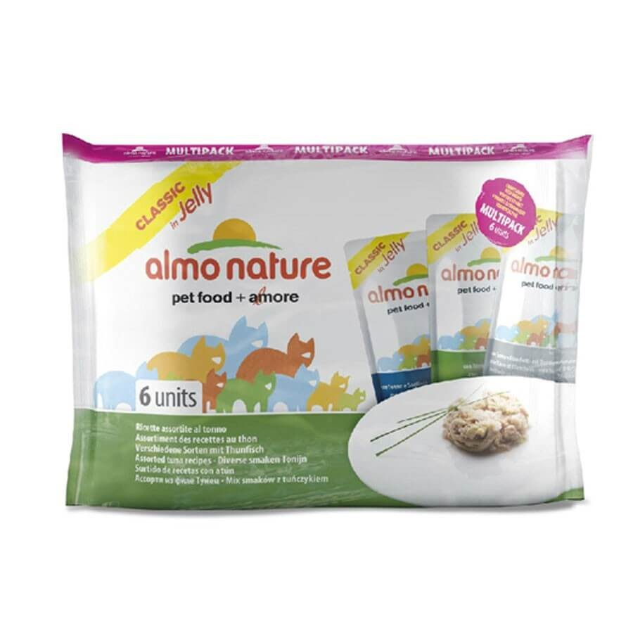 Almo Nature Chat Classic Multi Pack Assortiment de recettes au thon 6 x 55 grs