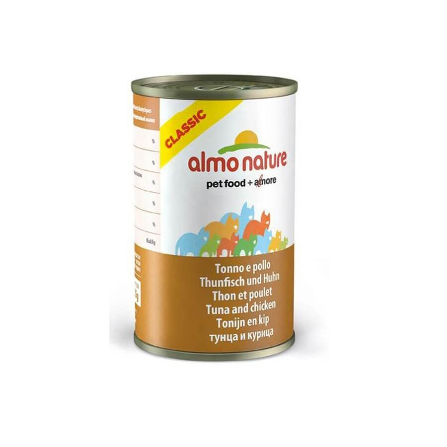 Almo Nature Chat Classic Thon et Poulet 24 x 140 grs - La compagnie des animaux