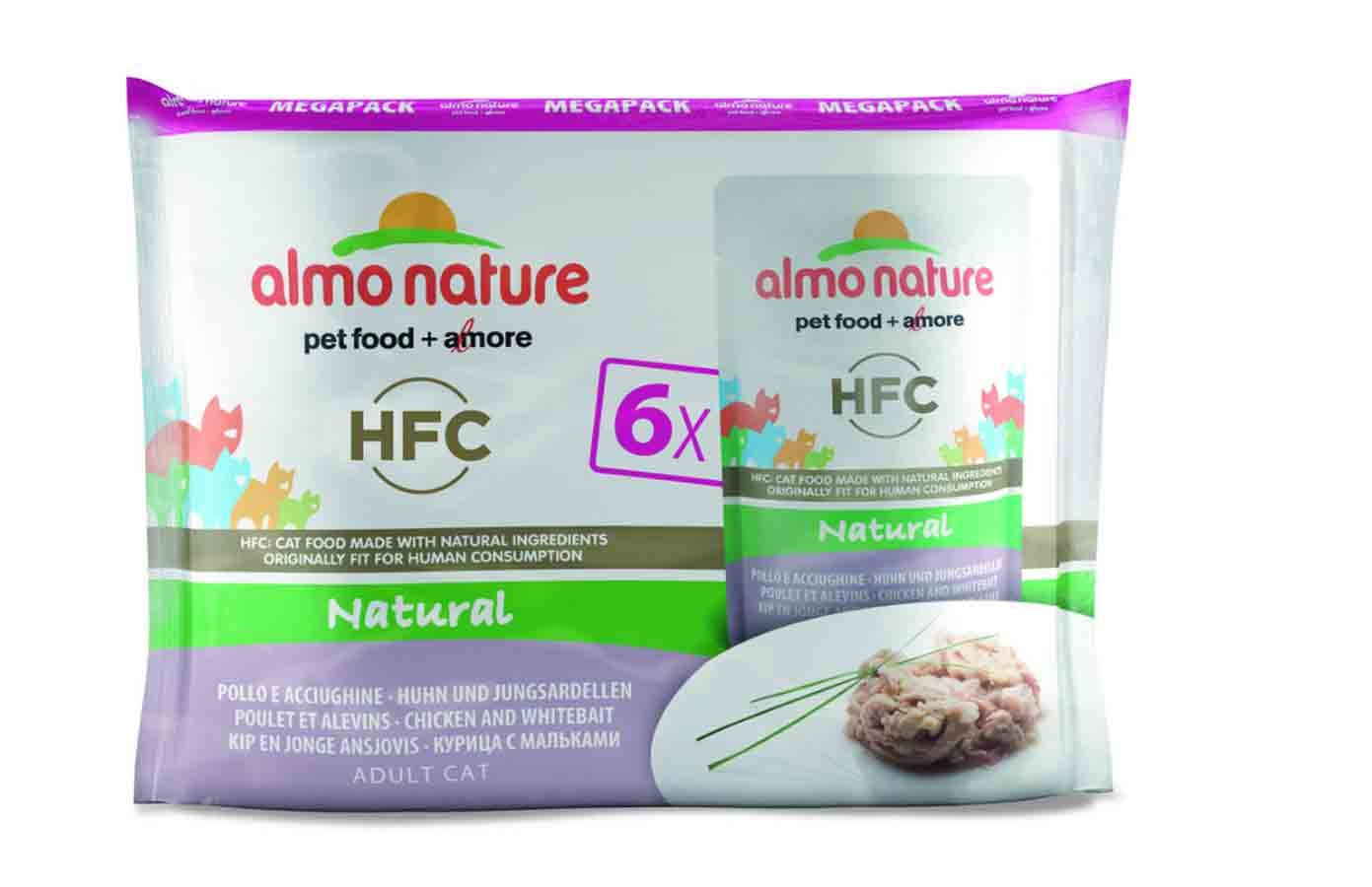 Almo Nature Chat Classic Value Pack Poulet et alevins 6 x 55 grs- La Compagnie des Animaux