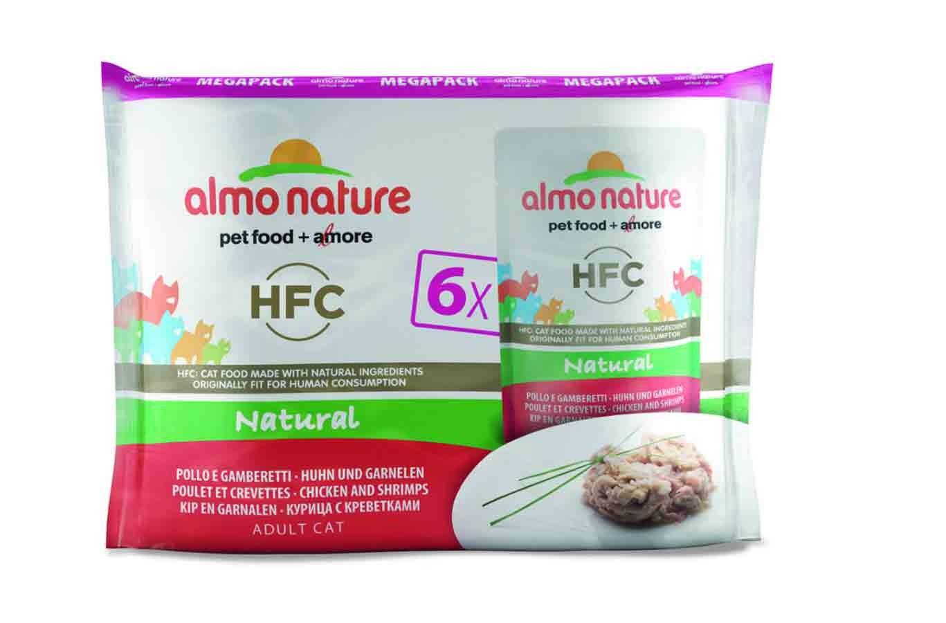 Almo Nature Chat Classic Value Pack Poulet et crevettes 6 x 55 grs- La Compagnie des Animaux