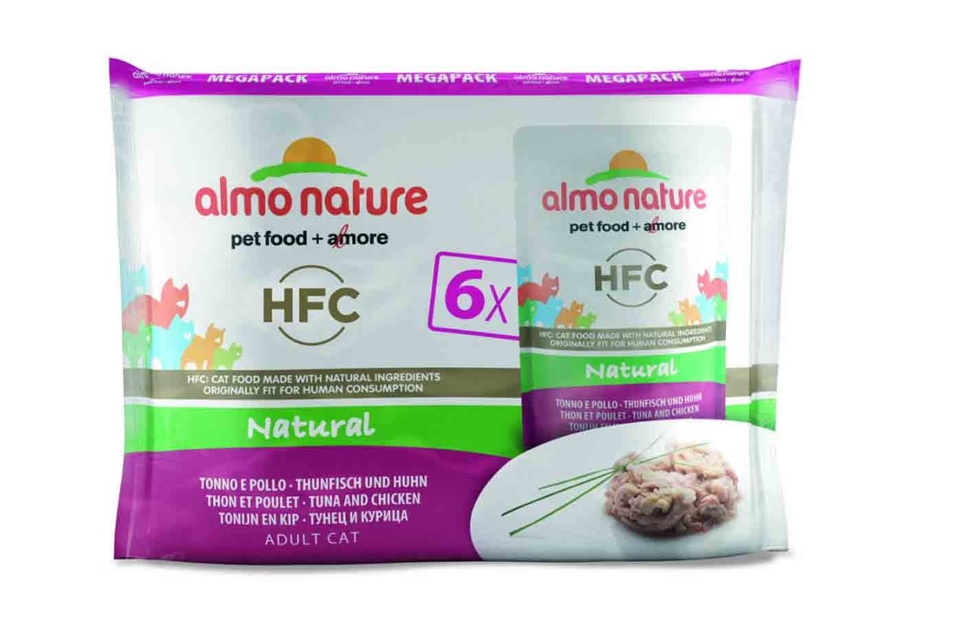 Almo Nature Chat Classic Value Pack Poulet et thon 6 x 55 grs- La Compagnie des Animaux